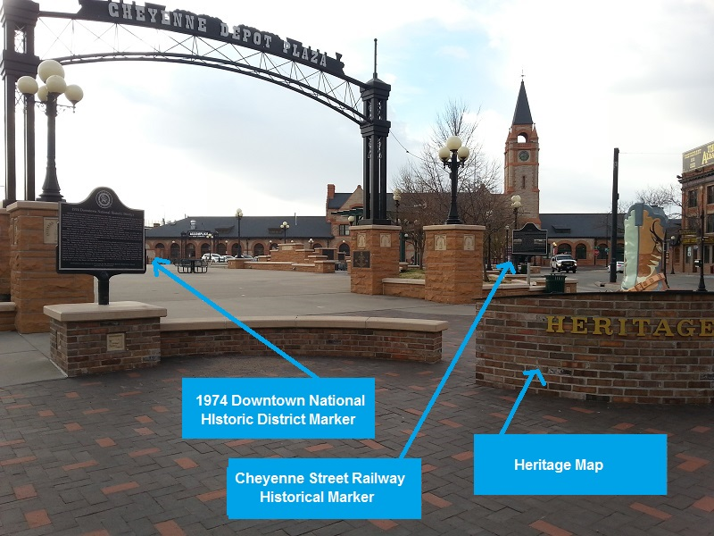 Cheyenne Historical Markers at the Cheyenne Depot part 1 Wyoming