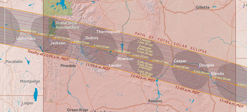 The Great American Eclipse 2017 The Path of Totality  Wyoming in