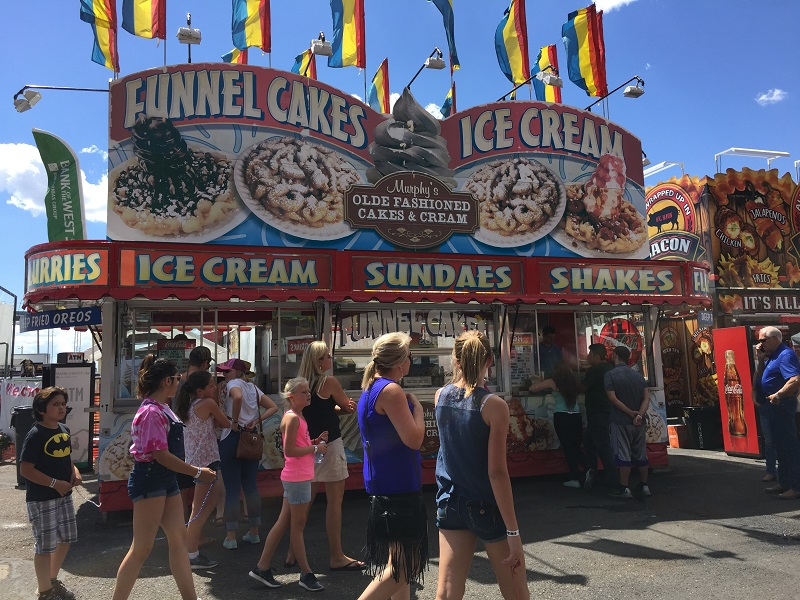 Funnel cakes are very popular