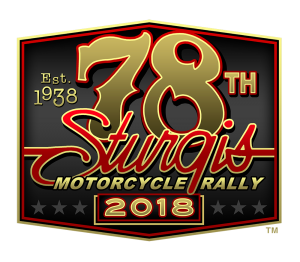 78th Anniversary logo of the Sturgis Motorcycle Rally - taking place in 2018