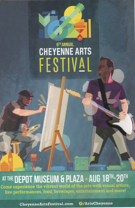 Postcard for the 6th Annual Cheyenne Arts Festival