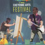 Postcard advertising the sixth annual Cheyenne Arts Festival
