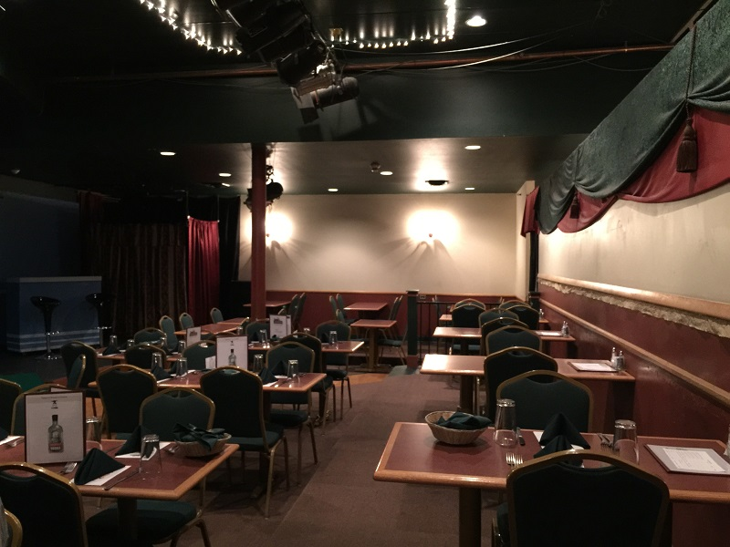Jesters dining/seating area. The stage is to your left (out of view) in this photo.