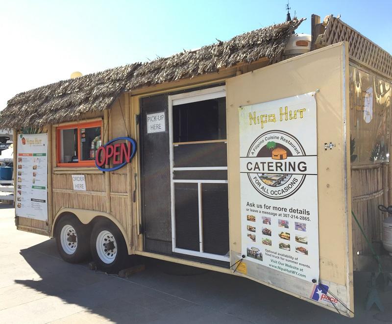 The Nipa Hut food truck on the Cheyenne Depot Plaza during Cheyenne Art Festival