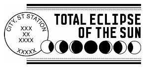 Special stamp cancellation for the total eclipse stamp on August 21, 2017