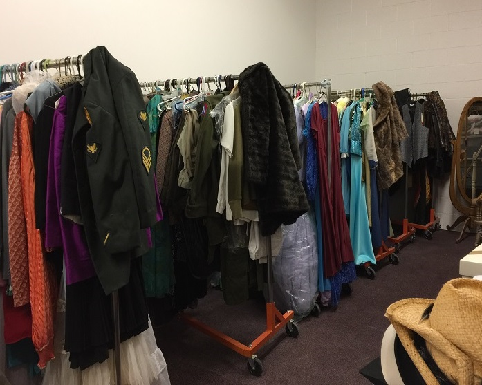 Wardrobe storage for years worth of costumes