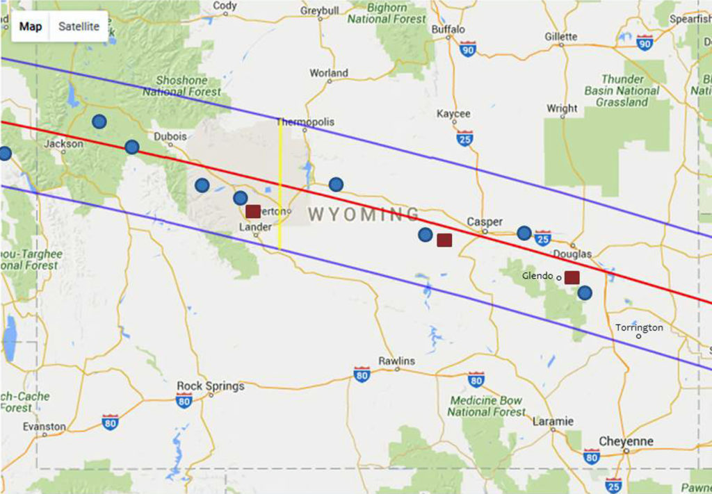 Map of Wyoming showing TPOT
