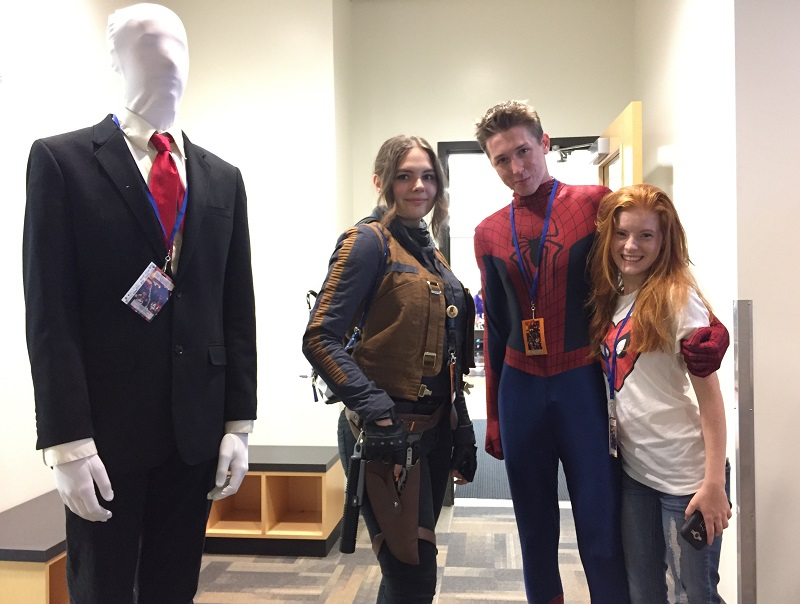 Costume clad comic book, TV and movie super-hero and SF fans