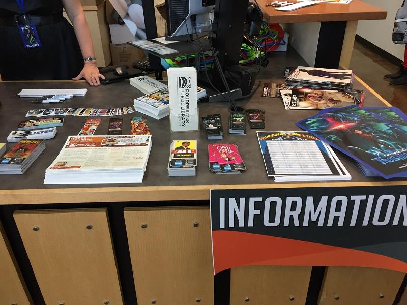 Information Desk, just as you enter