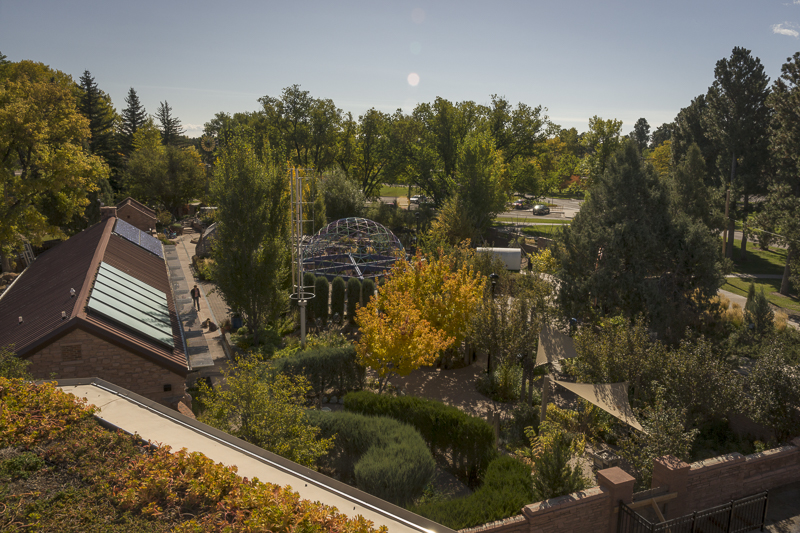 Paul Smith Childrens Village, view from the roof of the Conservatory