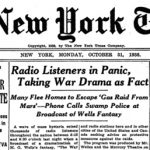 New York Times headline, October 31, 1938