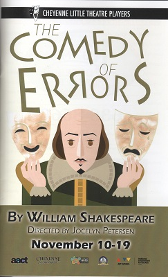 The Comedy of Errors program, Cheyenne Little Theatre Players
