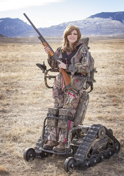 Ashlee Lundvall in her hunting gear