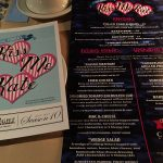 The program and the menu for Kiss Me Kate