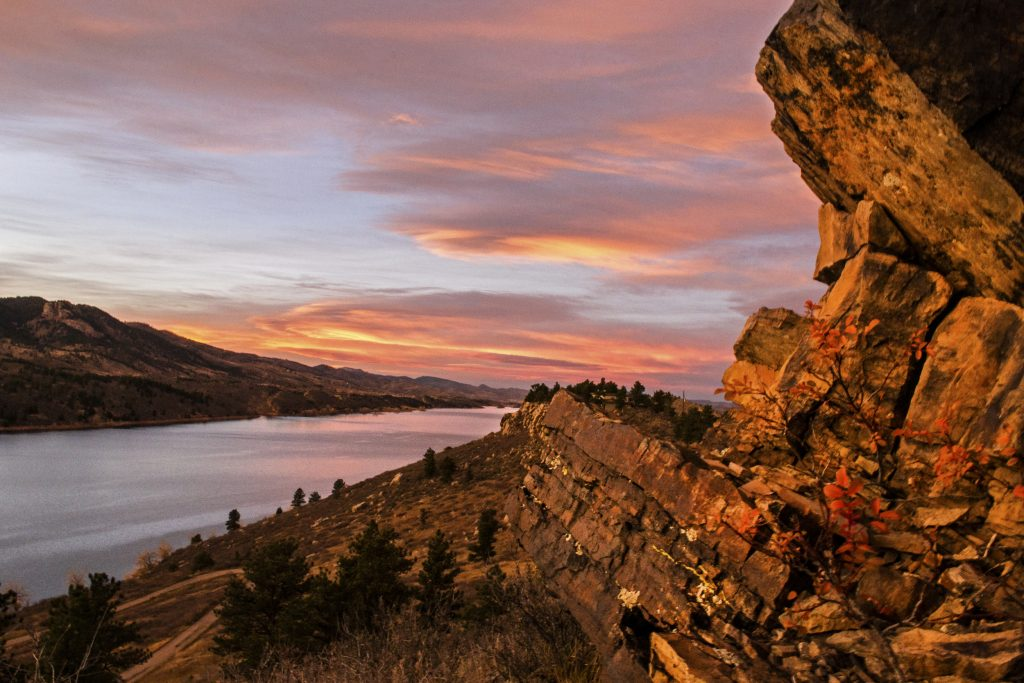 Horsetooth at Sunset During the Summer